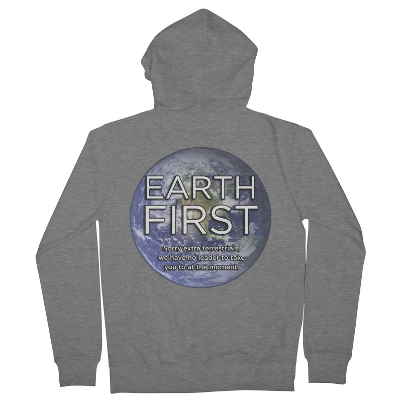Earth First Women's French Terry Zip-Up Hoody by Resistance Merch