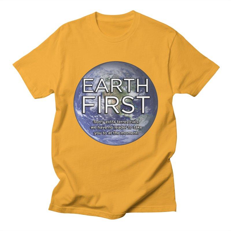 Earth First Men's Regular T-Shirt by Resistance Merch