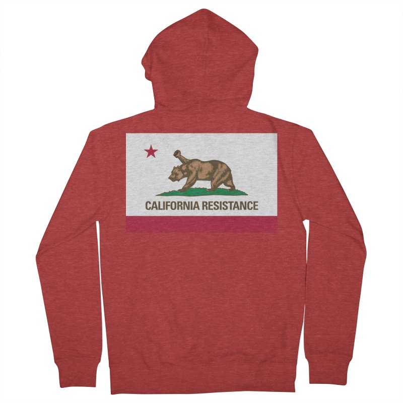 California Resistance Women's French Terry Zip-Up Hoody by Resistance Merch
