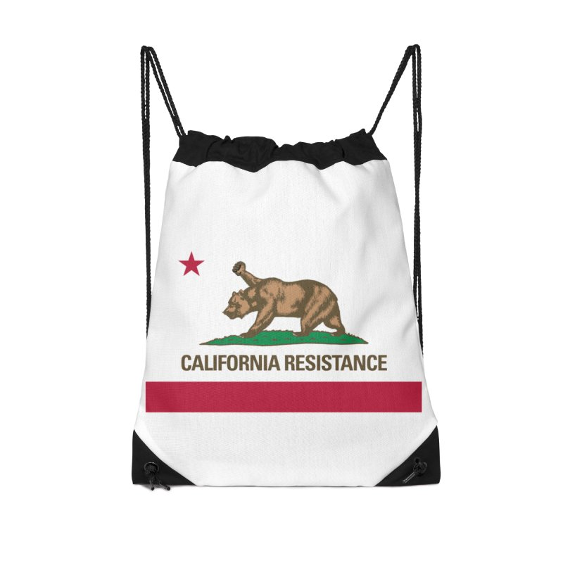 California Resistance Accessories Drawstring Bag Bag by Resistance Merch