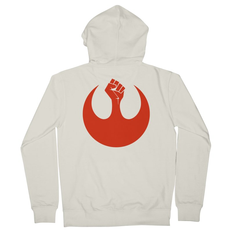May the Fist Be With You Women's French Terry Zip-Up Hoody by Resistance Merch