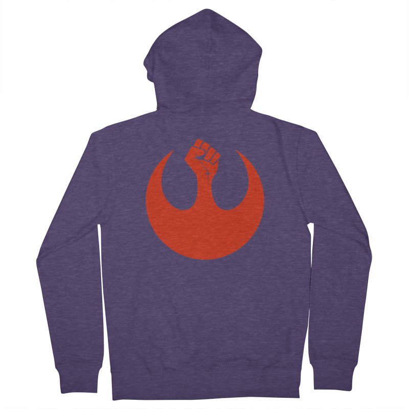 May the Fist Be With You Men's French Terry Zip-Up Hoody by Resistance Merch