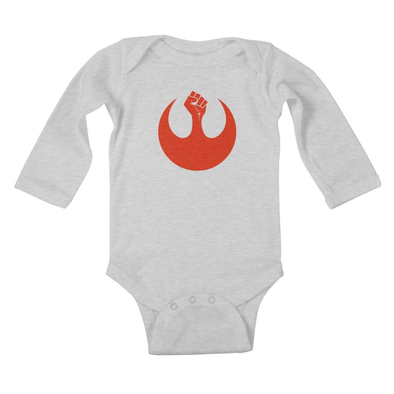 May the Fist Be With You Kids Baby Longsleeve Bodysuit by Resistance Merch