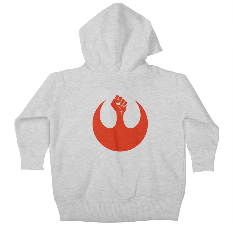 May the Fist Be With You Kids Baby Zip-Up Hoody by Resistance Merch
