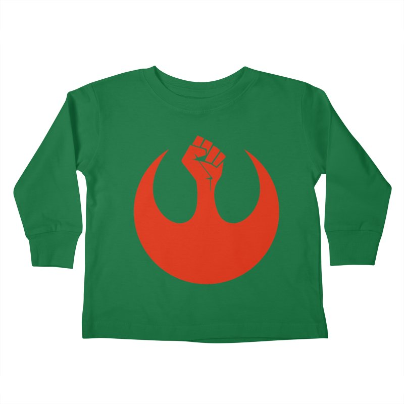May the Fist Be With You Kids Toddler Longsleeve T-Shirt by Resistance Merch