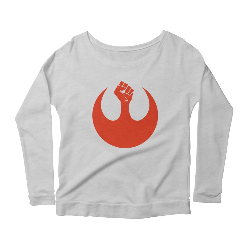 May the Fist Be With You Women's Scoop Neck Longsleeve T-Shirt by Resistance Merch