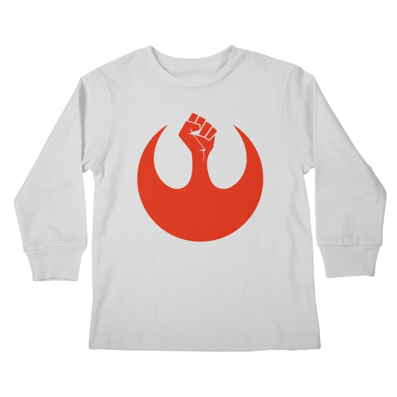 May the Fist Be With You Kids Longsleeve T-Shirt by Resistance Merch