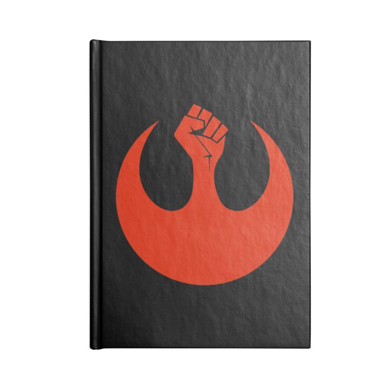 May the Fist Be With You Accessories Lined Journal Notebook by Resistance Merch