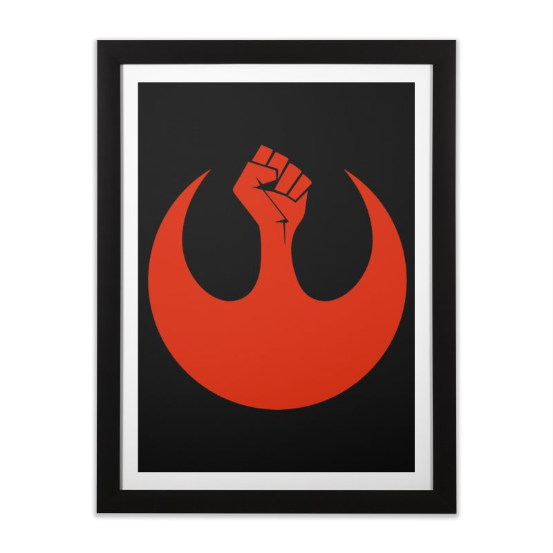 May the Fist Be With You Home Framed Fine Art Print by Resistance Merch