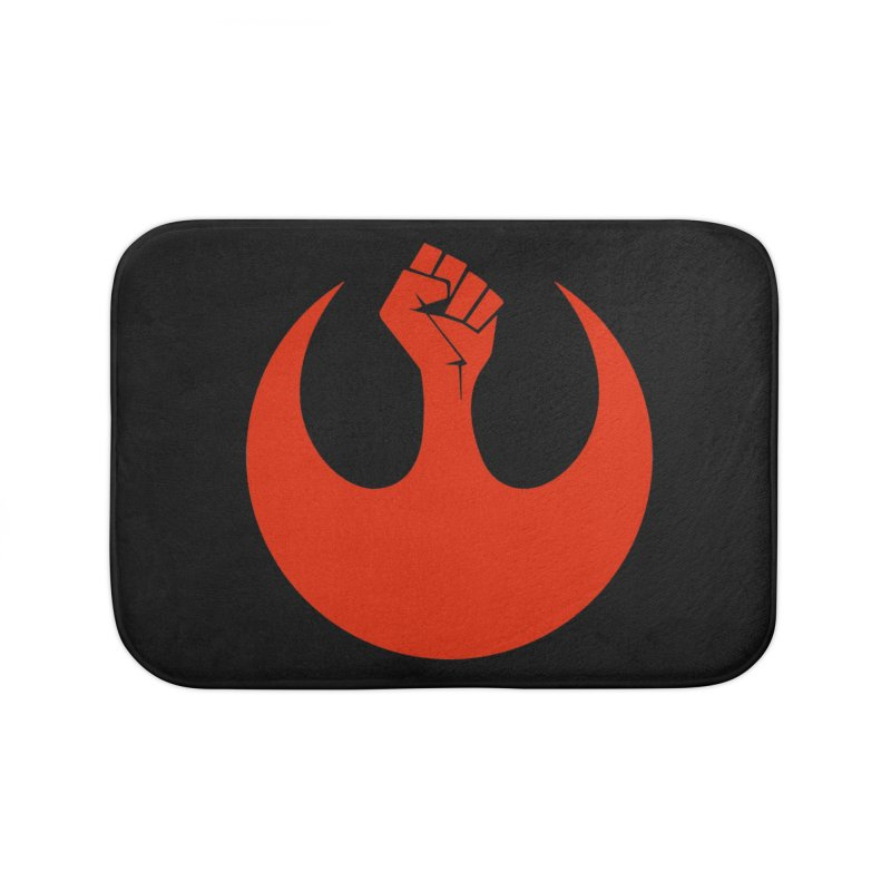 May the Fist Be With You Home Bath Mat by Resistance Merch