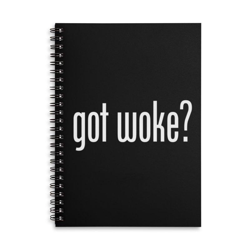 Got Woke? Accessories Lined Spiral Notebook by Resistance Merch