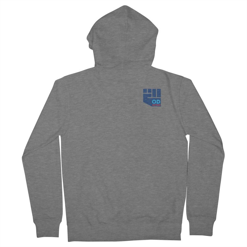 OD Action — Lapel Women's French Terry Zip-Up Hoody by Resistance Merch