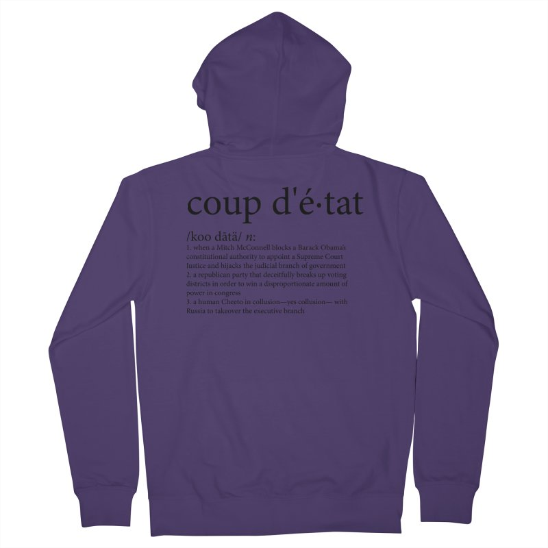 Couped Up Women's French Terry Zip-Up Hoody by Resistance Merch