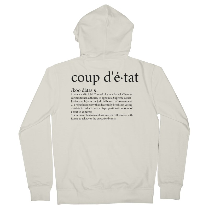 Couped Up Men's French Terry Zip-Up Hoody by Resistance Merch