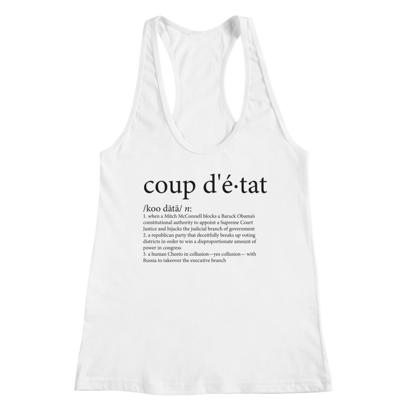 Couped Up Women's Racerback Tank by Resistance Merch