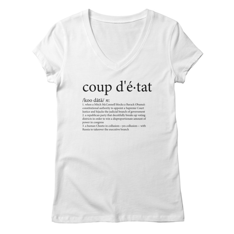 Couped Up Women's Regular V-Neck by Resistance Merch