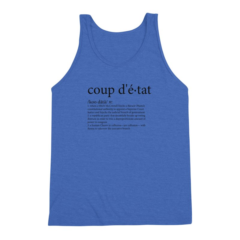 Couped Up Men's Triblend Tank by Resistance Merch