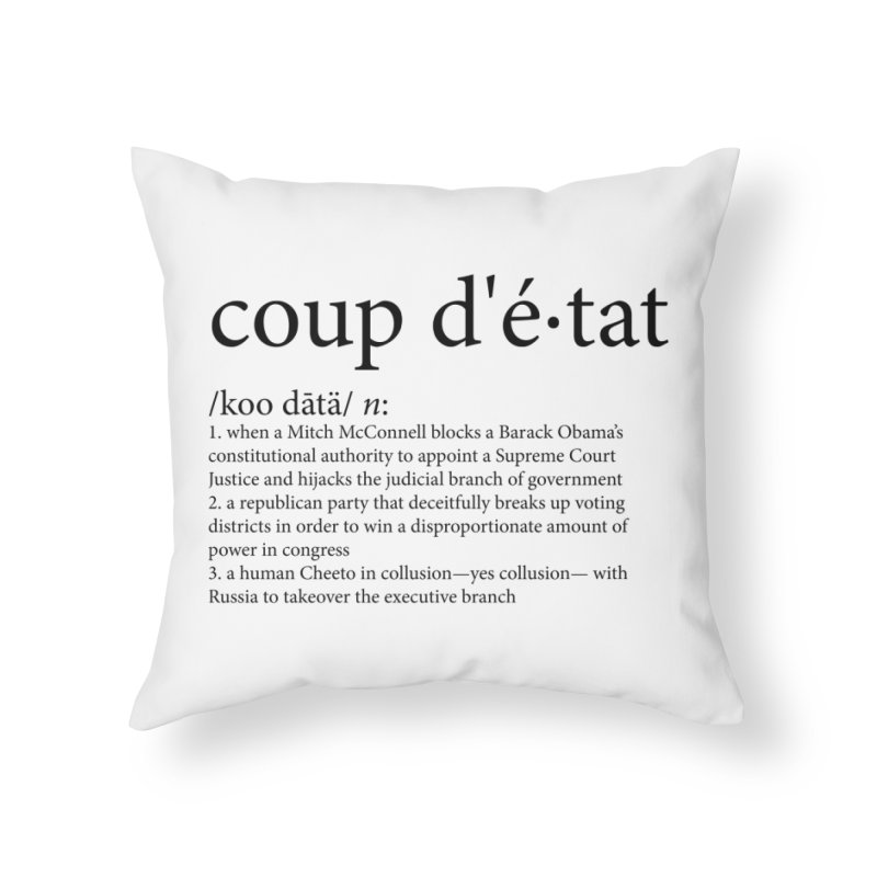 Couped Up Home Throw Pillow by Resistance Merch