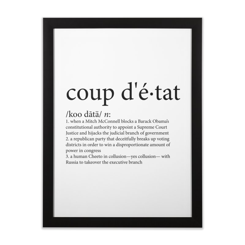 Couped Up Home Framed Fine Art Print by Resistance Merch