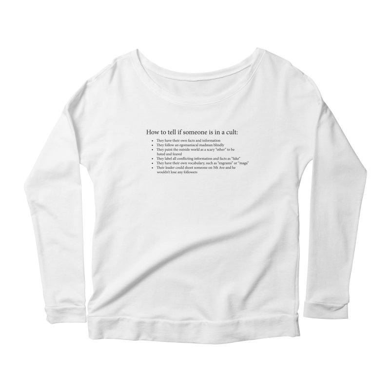 Classic Cult Women's Scoop Neck Longsleeve T-Shirt by Resistance Merch