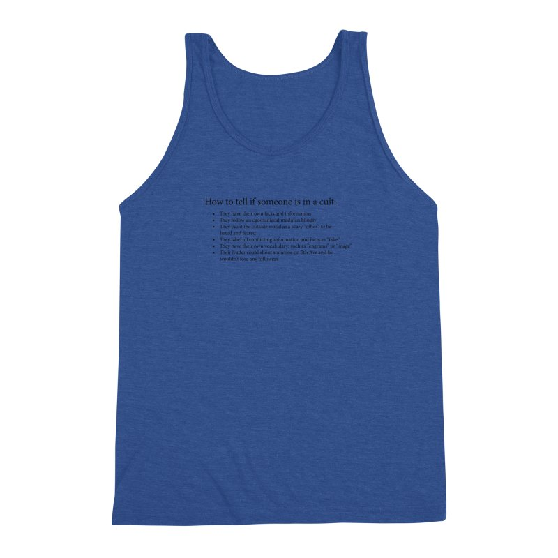Classic Cult Men's Triblend Tank by Resistance Merch