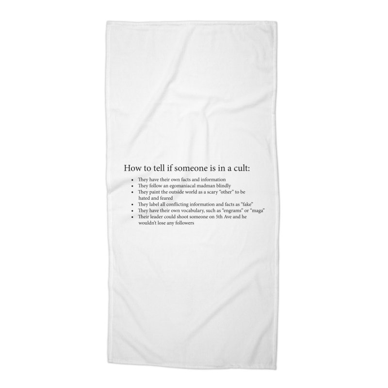 Classic Cult Accessories Beach Towel by Resistance Merch