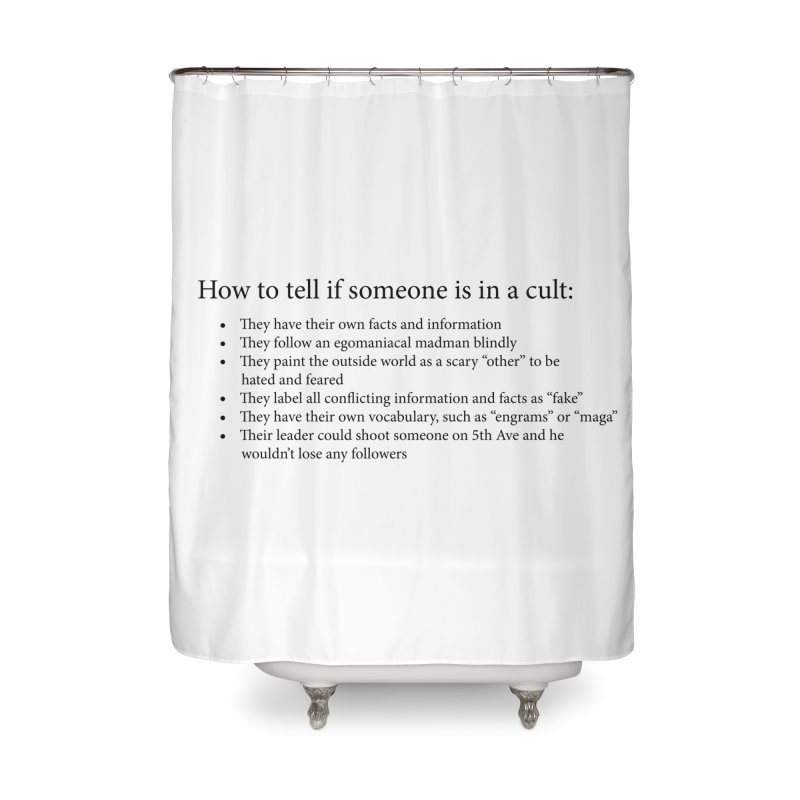 Classic Cult Home Shower Curtain by Resistance Merch