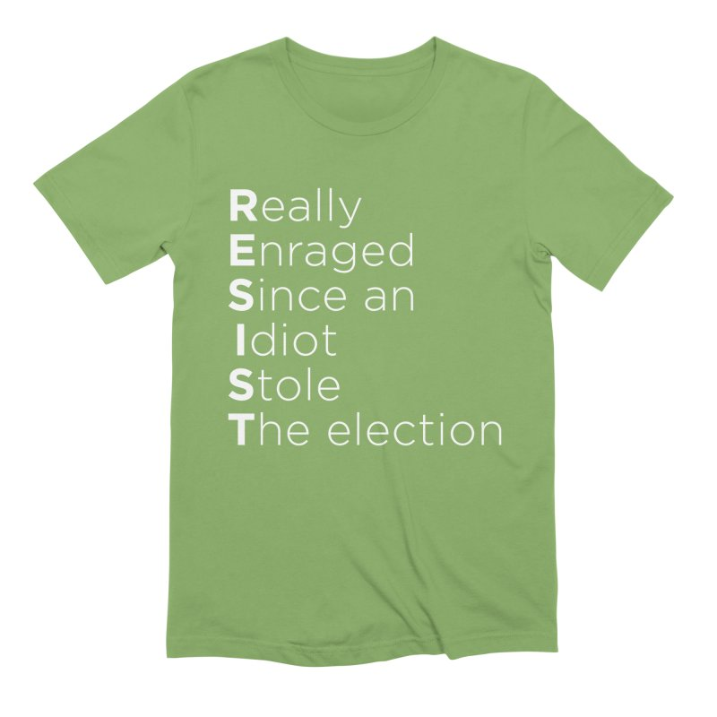 Resist the Idiot Men's Extra Soft T-Shirt by Resistance Merch