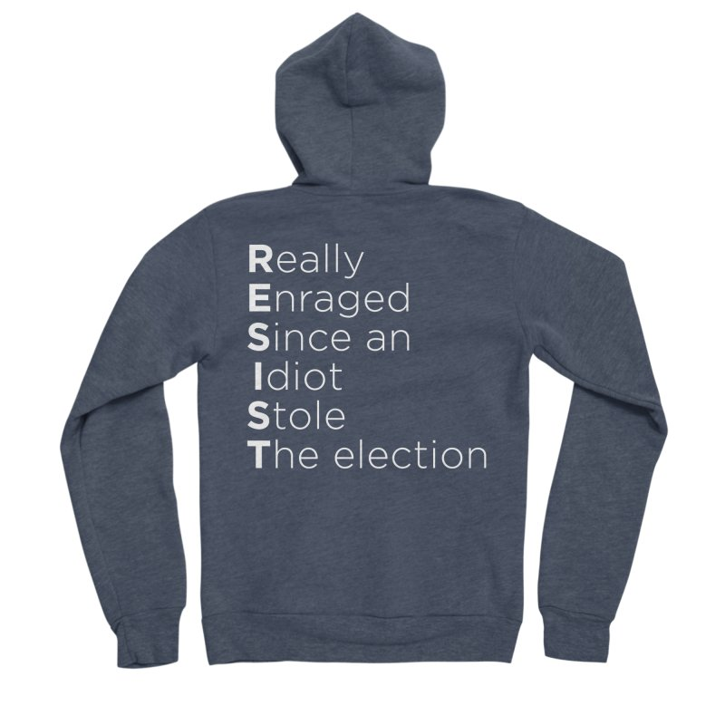 Resist the Idiot Men's Sponge Fleece Zip-Up Hoody by Resistance Merch