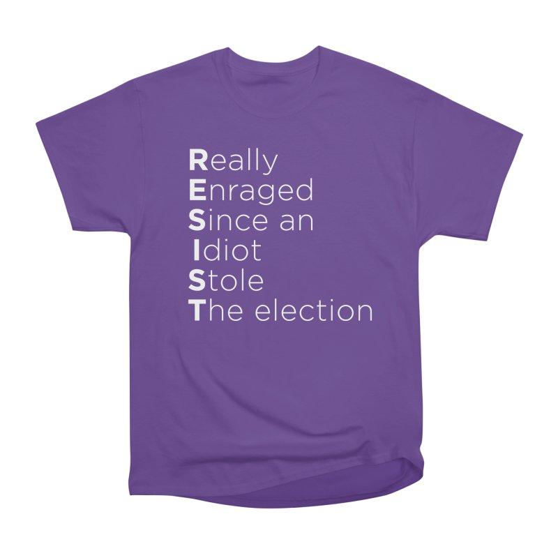Resist the Idiot Women's Heavyweight Unisex T-Shirt by Resistance Merch
