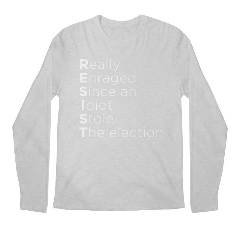 Resist the Idiot Men's Regular Longsleeve T-Shirt by Resistance Merch