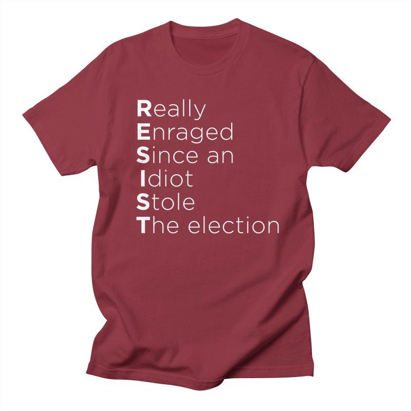 Resist the Idiot Men's Regular T-Shirt by Resistance Merch