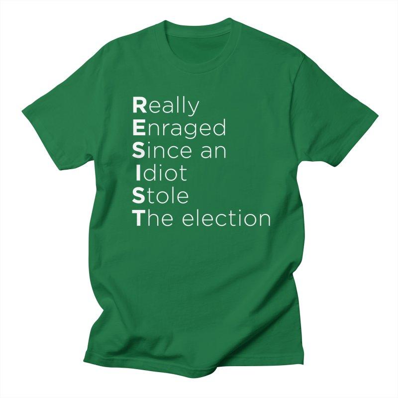 Resist the Idiot Women's Regular Unisex T-Shirt by Resistance Merch