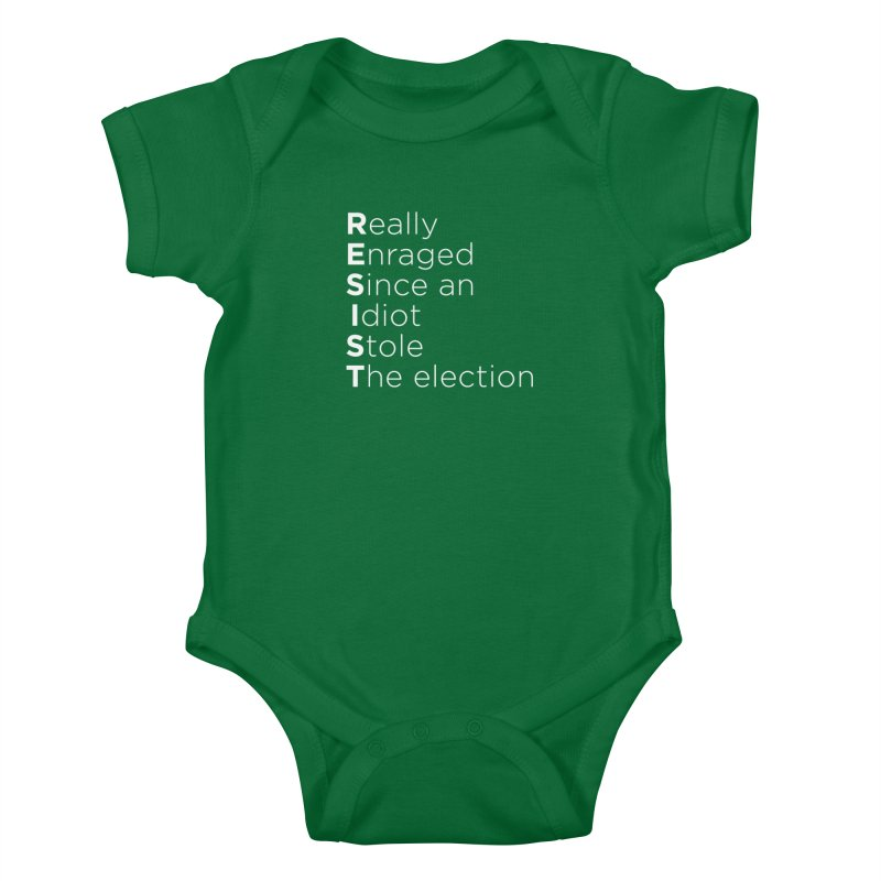 Resist the Idiot Kids Baby Bodysuit by Resistance Merch
