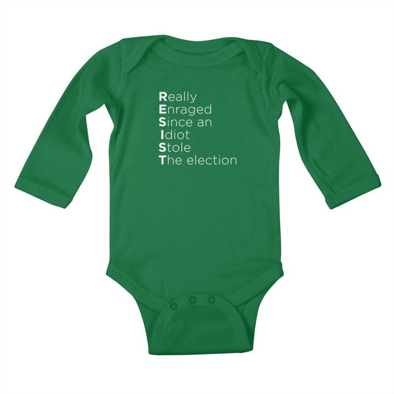 Resist the Idiot Kids Baby Longsleeve Bodysuit by Resistance Merch