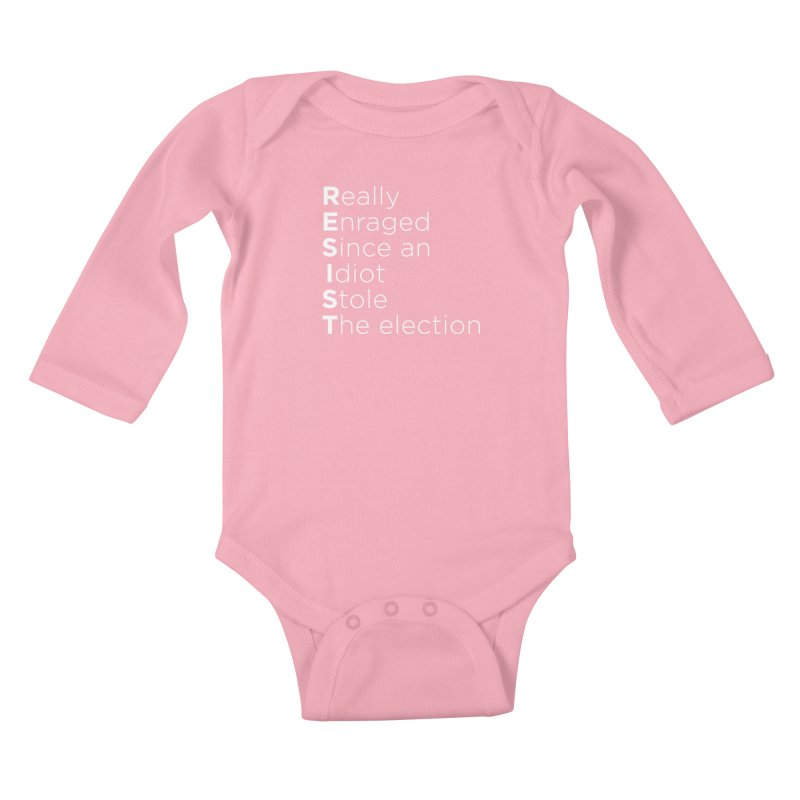 Resist the Idiot Kids Baby Longsleeve Bodysuit by Resistance Merch