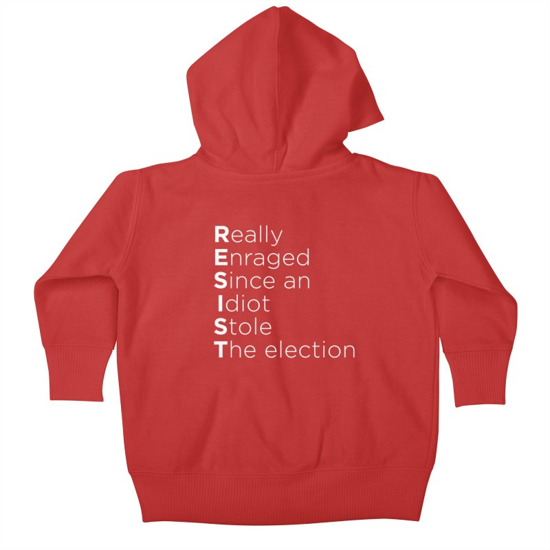 Resist the Idiot Kids Baby Zip-Up Hoody by Resistance Merch