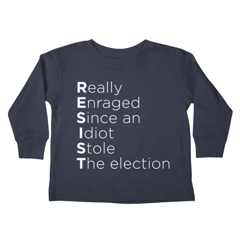 Resist the Idiot Kids Toddler Longsleeve T-Shirt by Resistance Merch