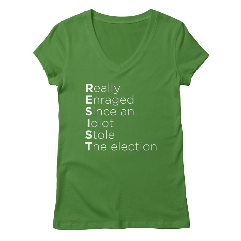 Resist the Idiot Women's Regular V-Neck by Resistance Merch