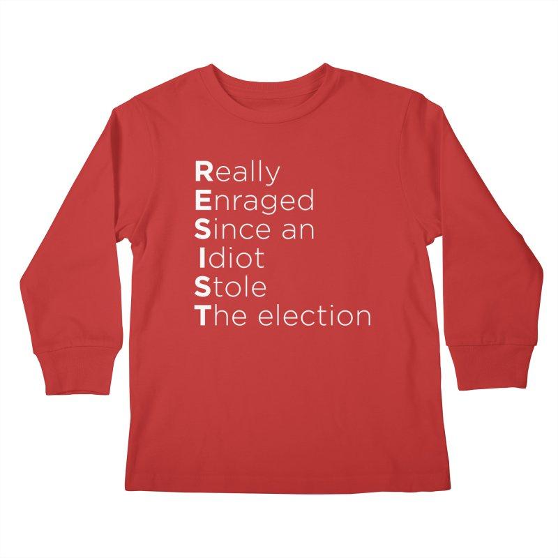Resist the Idiot Kids Longsleeve T-Shirt by Resistance Merch