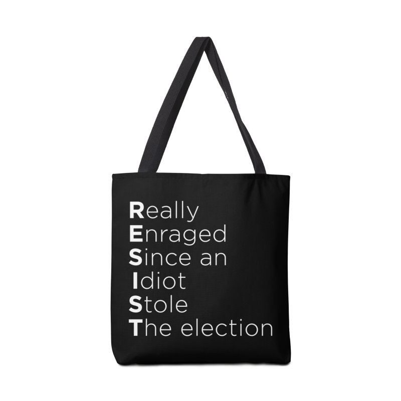 Resist the Idiot Accessories Tote Bag Bag by Resistance Merch