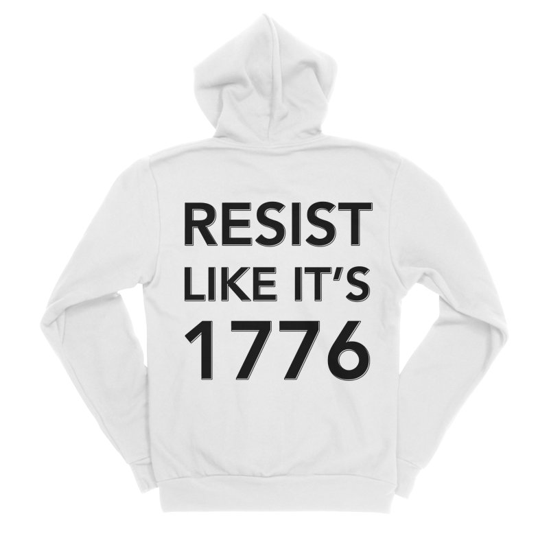 Resist Like it's 1776 Men's Sponge Fleece Zip-Up Hoody by Resistance Merch