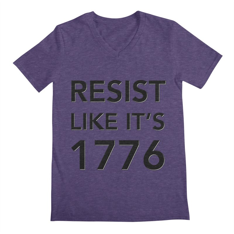 Resist Like it's 1776 Men's Regular V-Neck by Resistance Merch