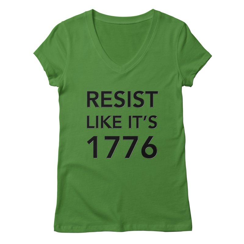 Resist Like it's 1776 Women's Regular V-Neck by Resistance Merch