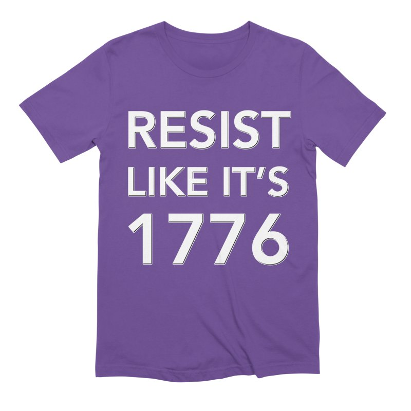 Resist Like it's 1776 — for dark backgrounds Men's Extra Soft T-Shirt by Resistance Merch