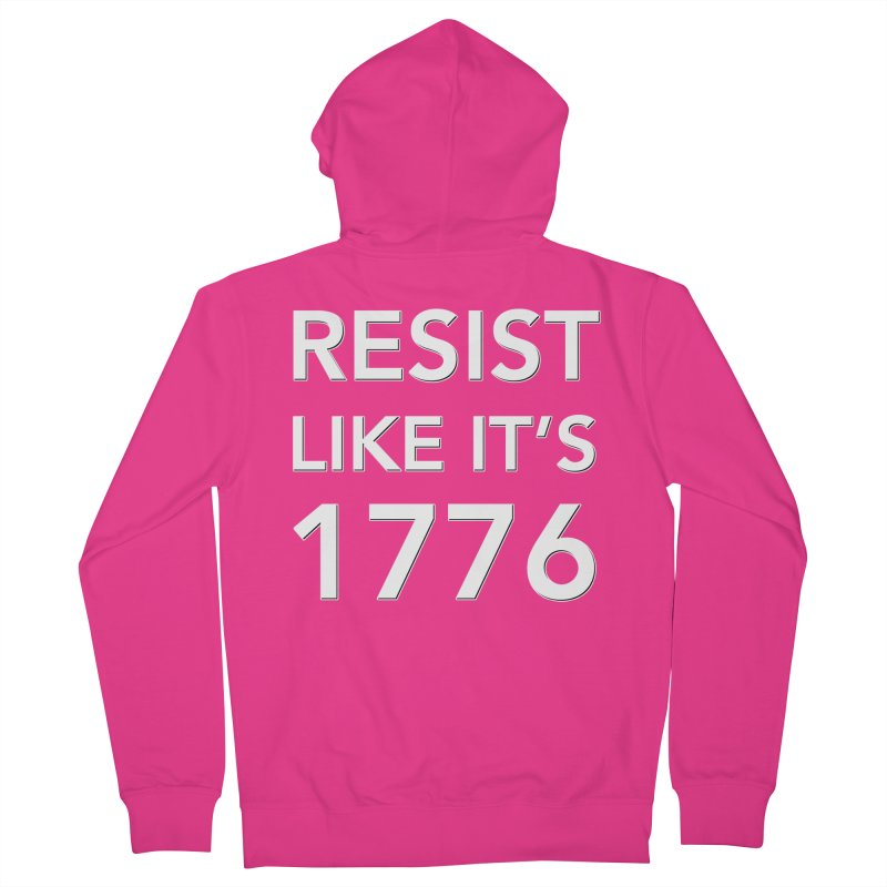 Resist Like it's 1776 —for dark backgrounds Men's French Terry Zip-Up Hoody by Resistance Merch