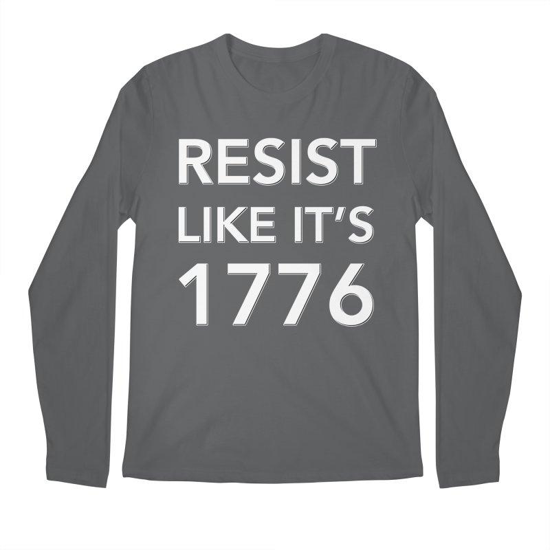 Resist Like it's 1776 —for dark backgrounds Men's Longsleeve T-Shirt by Resistance Merch