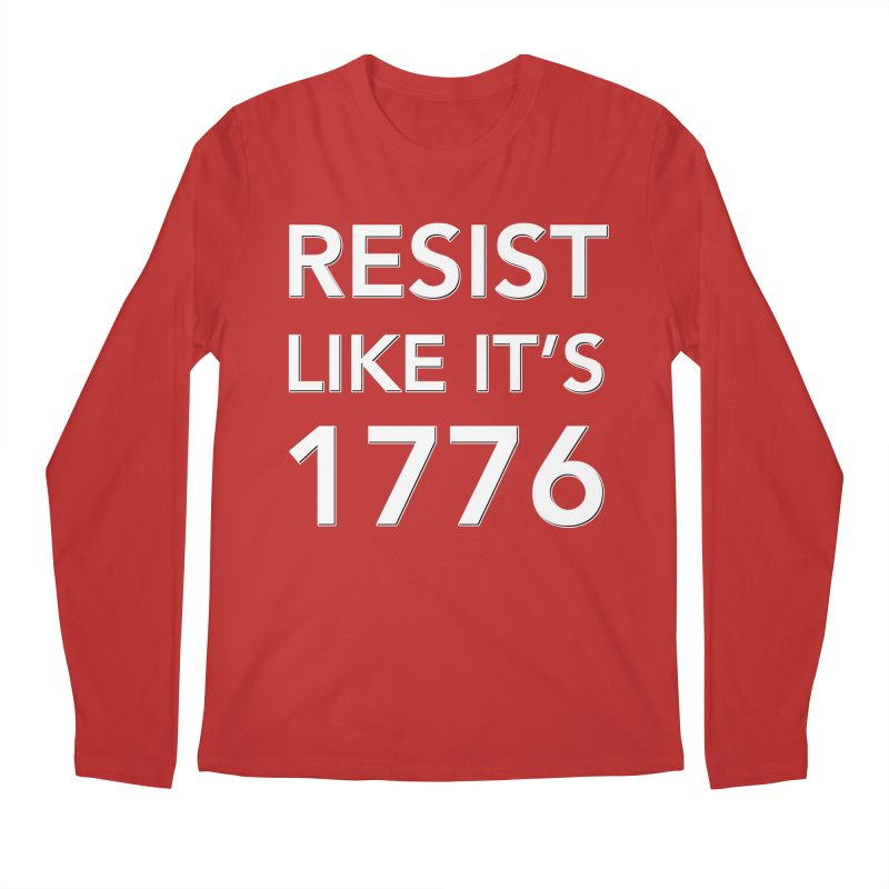 Resist Like it's 1776 — for dark backgrounds Men's Regular Longsleeve T-Shirt by Resistance Merch
