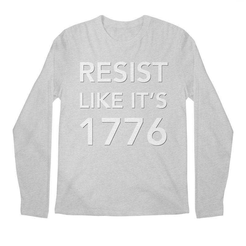 Resist Like it's 1776 —for dark backgrounds Men's Regular Longsleeve T-Shirt by Resistance Merch
