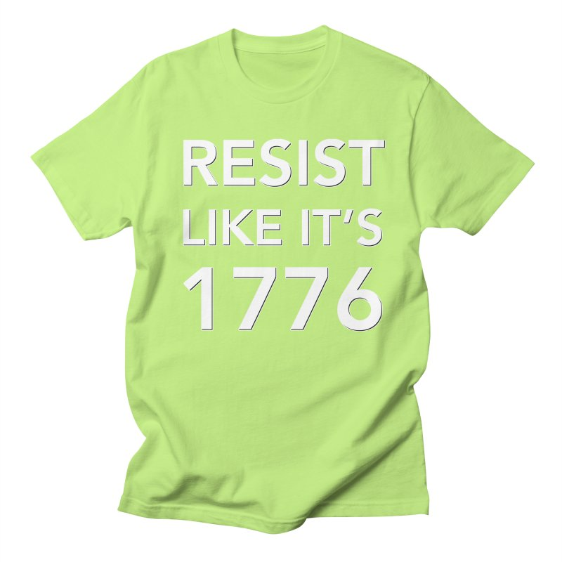 Resist Like it's 1776 — for dark backgrounds Men's Regular T-Shirt by Resistance Merch